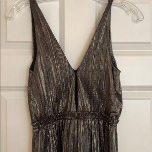 BCBGeneration Dresses - BCBG generation gunmetal metallic gown.